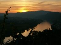 Mosel bei Sonnenuntergang
