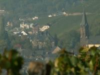 Blick auf Lieser mit Schloß und Petruskirche